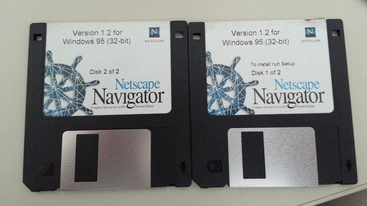 Netscape Navigator version 1.2 for Windows 95 disketter